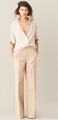 neutral outfit! So effortlessly cool.
