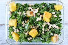 Day 9 Of The 2015 Clean Eating Challenge Buzzfeed Clean Eating Challenge, Get Healthy, Healthy Recipes, Kale Salad, White Beans, Seaweed Salad, Butternut Squash, Vinaigrette, Eliminating Sugar