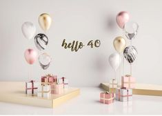 Make your 40th birthday sparkle with this glittery hello 40 banner! All banners are made with your choice of glitter cardstock, then strung together either silver/white or gold/white twine (depending on letter color). Holes are 1/16th of an inch and are not visible when letters are