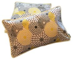 Yellow Floral Abstract Cushion Cover assorted sizes - MARYEMMA DECOR - FREE POSTAGE IN AUSTRALIA