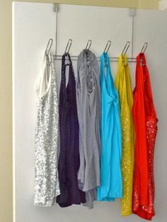 Shirt Hanging System - Repurposing Everyday Items for a More Organized Home on HGTV