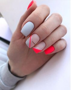 Try some of these designs and give your nails a quick makeover, gallery of unique nail art designs for any season. The best images and creative ideas for your nails. Colorful Nail Designs, Beautiful Nail Designs, Nail Art Designs, Striped Nail Designs, Dream Nails, Love Nails, My Nails, Minimalist Nails, Nail Swag