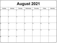 Work Calendar, 2018 Calendar Template, Free Printable Calendar Templates, August Calendar, Monthly Calendar Template, Print Calendar, 2021 Calendar, Calendar Design, Blank Calendar