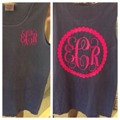 Comfort Colors monogram Tank on Etsy, $20.00