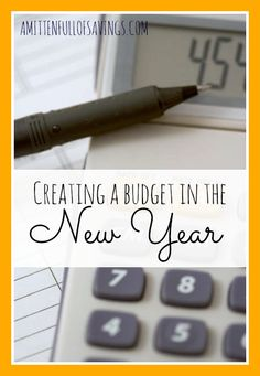 Creating a budget in the New Year