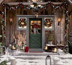 Don't forget to deck your door with festive decor.