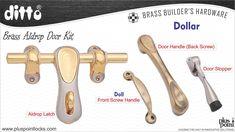 BRASS ALDROP DOOR KIT - DOLLAR Cabinet Handles, Door Handles, Window Hardware, Door Kits, Door Stopper, Main Door, Door Pulls, Door Locks, Steel Doors