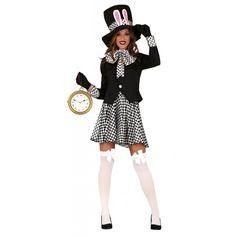 Disfraz de Conejo Sombrerero Oscuro para Mujer