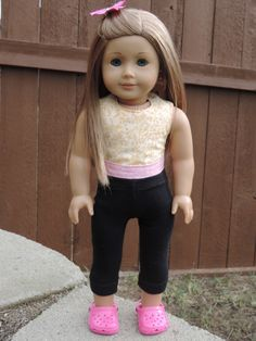 American Girl Doll Wraparound Reversible Halter Top with pattern link