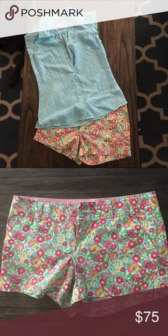 Lilly Pulitzer outfit! Size 2 shorts and 0 top! All like new! Lilly Pulitzer Shorts