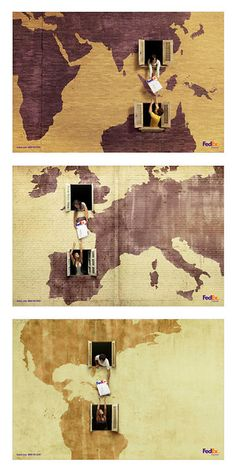 Consistently creative with their advertising design, this campaign for FedEx was created by advertising agency DDB in Brazil.