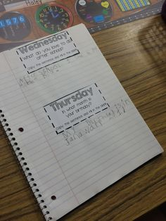 Mrs. Warner's first week in first grade and how she uses quick writes in a writing journal.