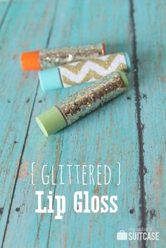 Dress up your chapstick and make it glittered. Inexpensive gift idea or party favor.
