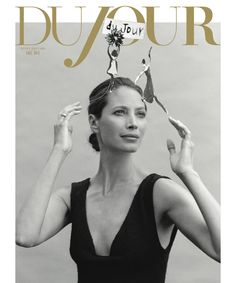 A colorful read - DuJour - September, 2012 - Christy Turlington shot by Bruce Weber