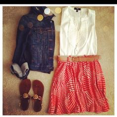 Target skirt. Cute outfit