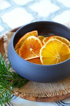 Oranges en tranches séchées au four {en déco ou à manger}