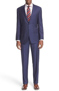 Canali Classic Fit Stripe Wool Suit available at #Nordstrom