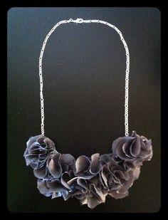 #DIY, ruffle bib necklace