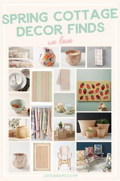 Spring Cottage Style Home Decor We Love - Love and Specs - Spring always ushers in an abundance of cozy cottage decor with a decidedly garden feel that's to - Cottage Style Homes, Love Wall, Contemporary Home Decor, Cozy Cottage, Dining Room Design, Inspired Homes, Bedroom Wall, Ushers, Wall Decor