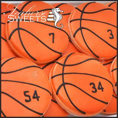 Basketball Cookies (quantity: basket ball orange sports favor favour jump bounce - Fitness and Exercises, Outdoor Sport and Winter Sport Basketball Cupcakes, Basketball Birthday Parties, Basketball Memes, Basketball Season, Basketball Pictures, Basketball Gifts, Cookie Baskets, Basket Drawing, Home Decor Baskets
