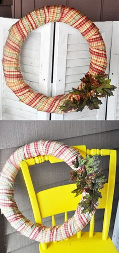 This DIY fall wreath is easy to create on a budget - and looks great. The secret ingredient is a pool noodle!