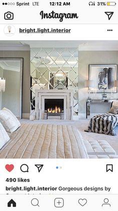 Glam Fireplace
