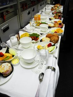 Emirates Airline   Business class breakfast service