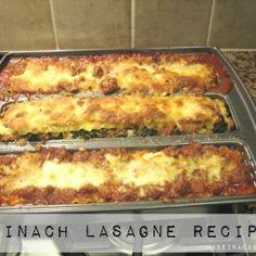 Spinach lasagne Reci