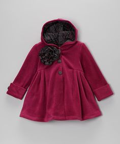 Take a look at this Maria Elena Fuchsia Riding Hood Coat - Toddler & Girls on zulily today!
