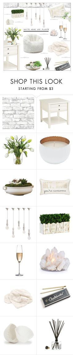 """"""" #290 White Home and Plants.."""" by wonderful-paradisaical ❤ liked on Polyvore featuring interior, interiors, interior design, home, home decor, interior decorating, Brewster Home Fashions, Pier 1 Imports, Diane James and M&Co"""