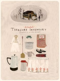 Rebecca Green, How wonderful is the idea of an illustrated personal treasure inventory?
