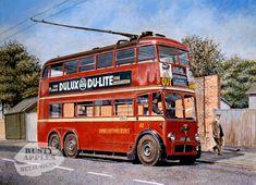 Robert Nixon, steam locomotive, railway, transport and portraite artist Huddersfield London Bus, Old London, London Transport, Public Transport, London History, British History, Transport Pictures, London Drawing, Routemaster