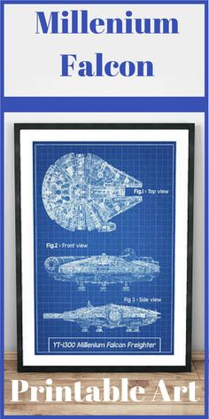 Millenium Falcon Star Wars patent, millenium falcon, patent art, patent, Star Wars Poster, Star Wars Patent, Star Wars Print, star wars wall art, starwars  #ad  #starwars  #printable  #printableart