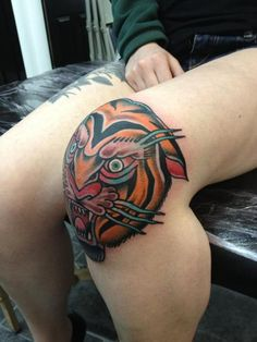BAM! What a knee piece!  done by joe ellis