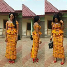 Kente Fabric Designs: See These Kente Styles For Fashionable Ladies - Lab Africa African Maxi Dresses, Latest African Fashion Dresses, African Dresses For Women, African Print Fashion, African Attire, African Wear, Ghana Fashion, Africa Fashion, Men Fashion