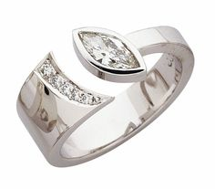 C405 Marquise diamond modern engagement or dress ring