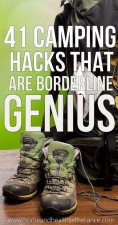 41 Camping Hacks that are Borderline Genius. At first I was skeptical- but theses really are great!