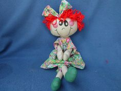 Doll Rag Doll Soft Sculpture Doll by MaggiesCloset2 on Etsy, $20.00