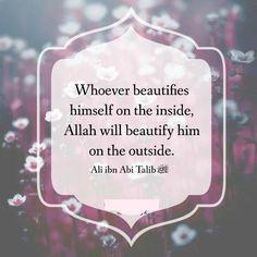Allah will Beautify him.