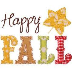 Happy Fall Applique Shirt - Fall Shirt - Perfect for Fall Photos! - Custom Machine Appliqué - Personalized Embroidery - Rockin' the Tutu by RockintheTutu on Etsy