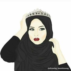 hijab, beauty, and drawing afbeelding