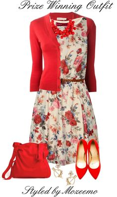 A fashion look from January 2014 featuring Boohoo dresses, Tory Burch cardigans and Charlotte Olympia pumps. Browse and shop related looks. Classy Outfits, Chic Outfits, Beautiful Outfits, Dress Outfits, Summer Outfits, Fashion Outfits, Looks Chic, Looks Style, Modest Dresses