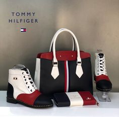TOMMY WINTER BOOT SET – ALIPA TRENDZ Lv Boots, Gucci Boots, Leather Boots, Boat Boots, Tommy Hilfiger Sale, Tommy Hilfiger Boots, Fashion Handbags, Purses And Handbags, Fashion Shoes