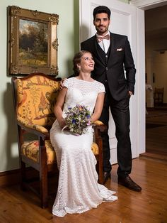 H&G_Kollektion: Brautkleid mit Vintage-Touch aus zarter Spitze. Bridesmaid Dresses, Wedding Dresses, Classic, Vintage, Fashion, Bridesmaids, Dress Wedding, Lace, Bridal Gown