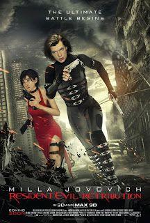Resident Evil: Retribution (2012)  Το Resident Evil: Η Τιμωρία είναι το πέμπτο φιλμ της κινηματογραφικής σειράς που έχει σημειώσει τεράστια εμπορική επιτυχία. Σε αυτήν την ταινία ο θανατηφόρος ιός της Umbrella Corporation συνεχίζει να καταστρέφει τον πλανήτη γη, μετατρέποντας τον παγκόσμιο πληθυσμό σε σαρκοφάγες λεγεώνες.