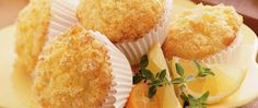 Enjoy these baked citrus muffins that are ready in 35 minutes.