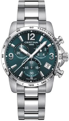 Certina Watch DS Podium Chronograph #add-content #basel-18 #bezel-fixed #bracelet-strap-steel #brand-certina #case-depth-11-7mm #case-material-steel #case-width-41mm #chronograph-yes #cws-upload #date-yes #delivery-timescale-call-us #dial-colour-green #discount-code-allow #gender-mens #luxury #movement-quartz-battery #new-product-yes #official-stockist-for-certina-watches #packaging-certina-watch-packaging #price-on-application #style-sports #subcat-ds-podium…