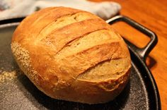 Making artisan (yeast) bread from scratch~ pretty good & pretty easy; simple ingredients; makes 3 loaves