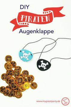 Piraten Augenklappe zum Basteln