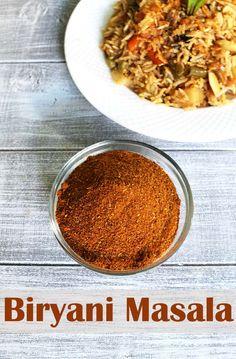 Biryani Masala Powder Recipe - a unique spice blend powder used for making perfect biryani. This can be used in making pulao too. This biryani masala powder is very fragrant and flavorful. Masala Powder Recipe, Masala Sauce, Masala Recipe, Podi Recipe, Garam Masala, South Indian Breakfast Recipes, Indian Food Recipes, Vegetarian Recipes, Cooking Recipes